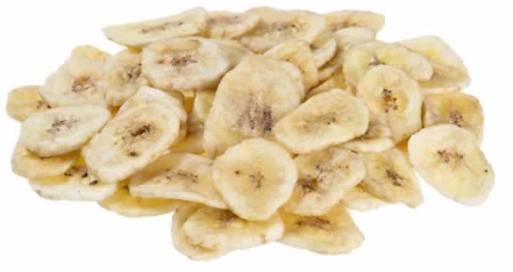 pieces of dried banana with a transparent background
